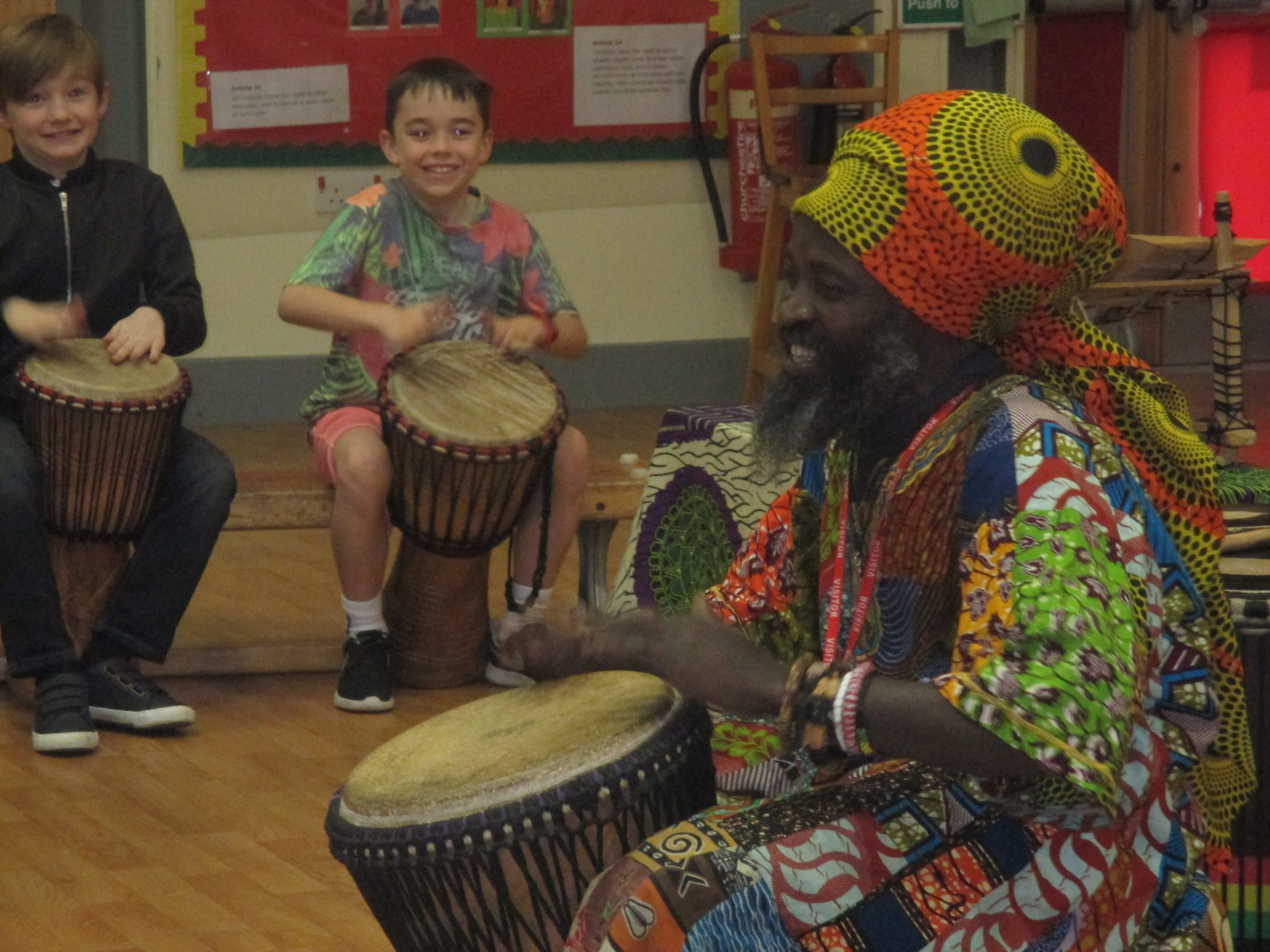 Drummers and story tellers for schools