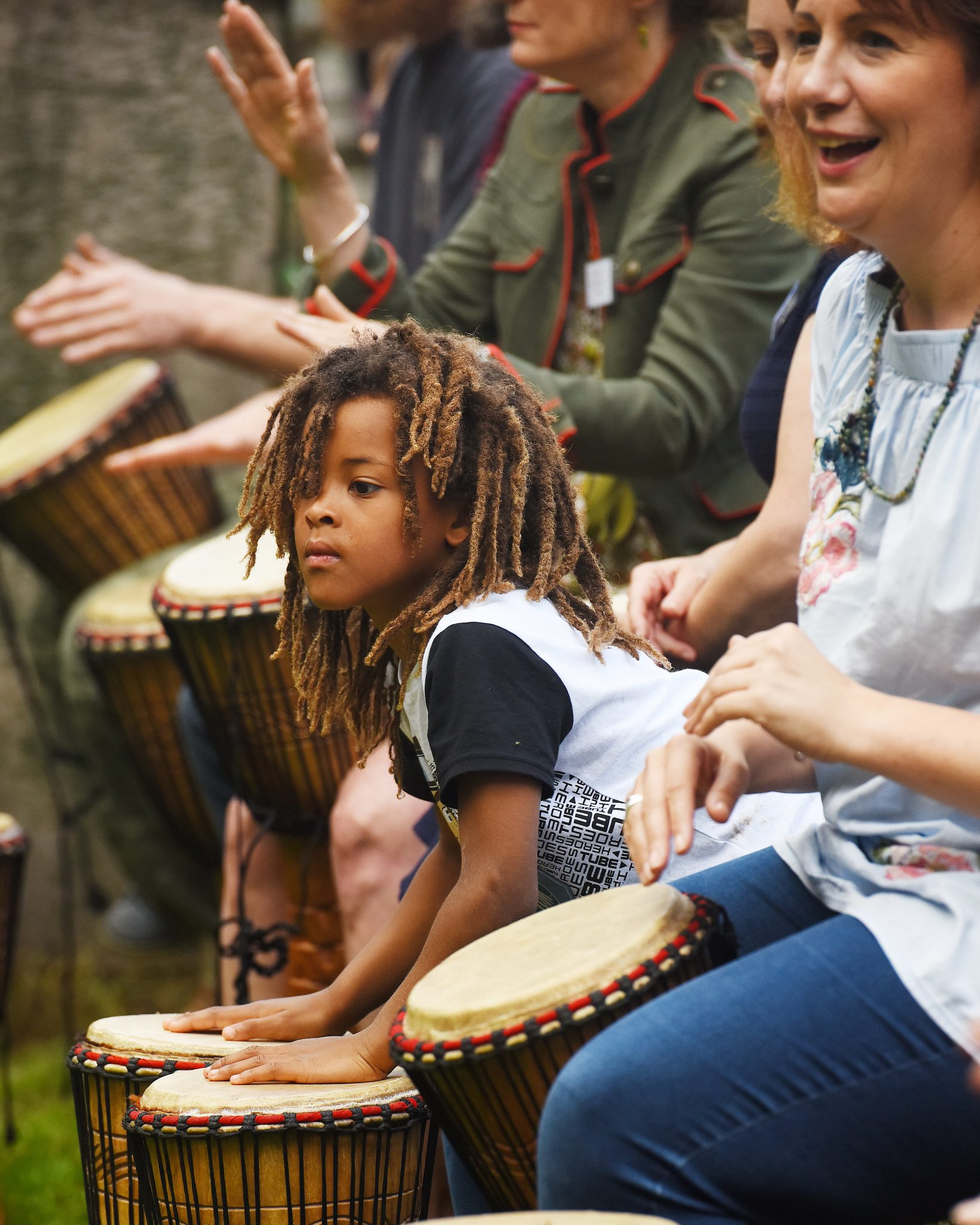 Drumming for festivals