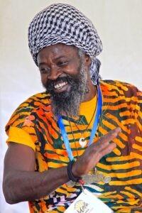 Kwame teaching drum workshop at Southampton Mela